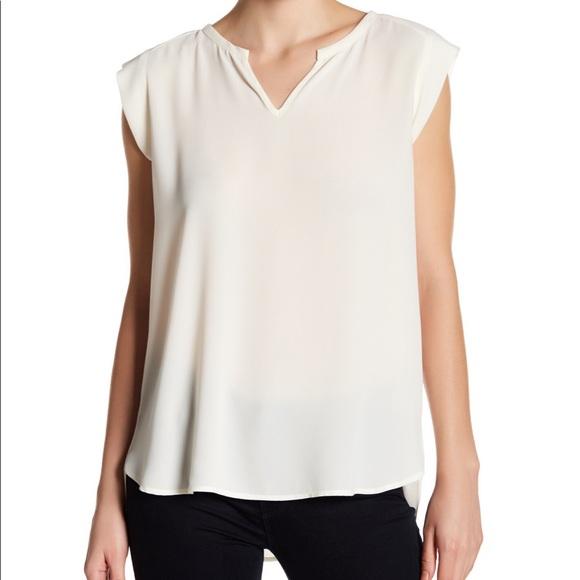 465d5b1e00a Pleione Chloe split neck blouse in cream. M_5c6059602beb79261fa030e4